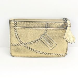 Coach gold coin purse